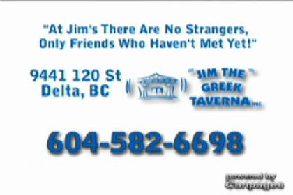 video Jim The Greek Taverna Inc