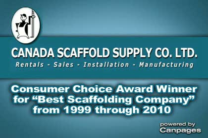 video Canada Scaffold Supply Co Ltd