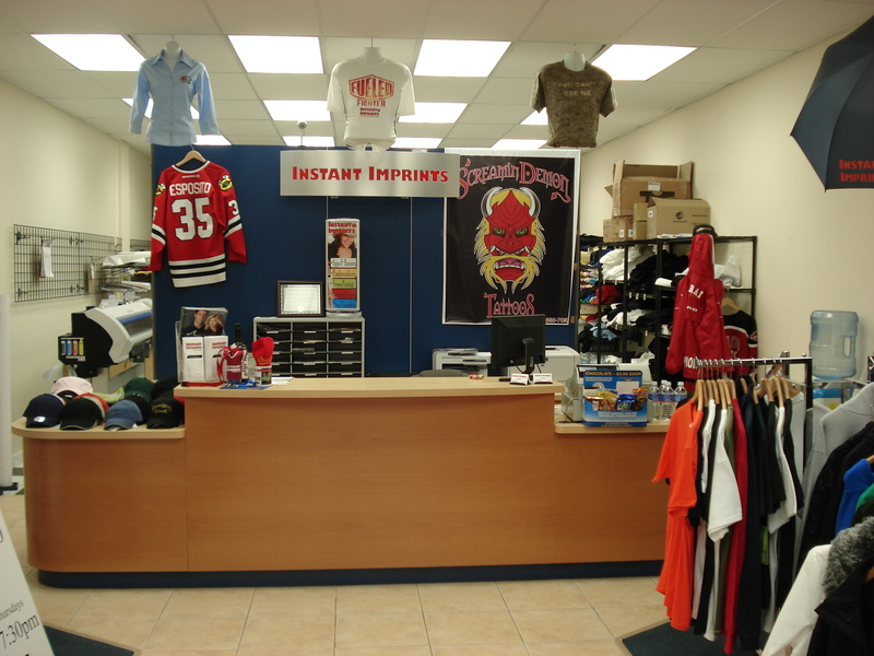 Instant imprints surrey bc 109 8077 king george hwy for Custom t shirts mississauga