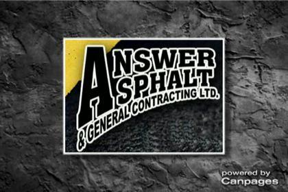 video Answer Asphalt & General Contracting Ltd